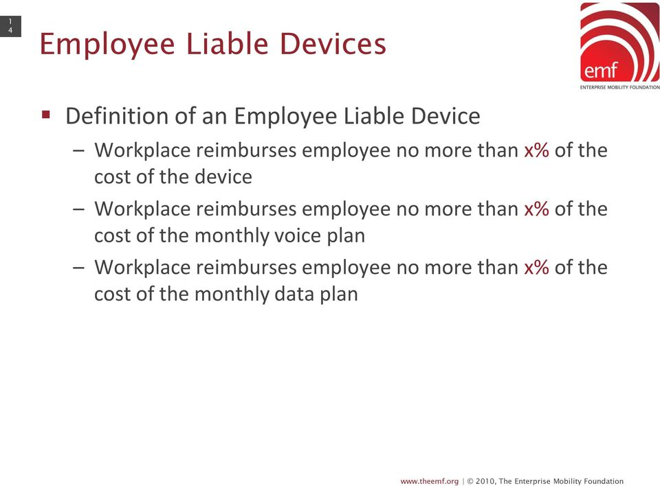 Workplace reimburses employee no more than x% of the cost of the monthly