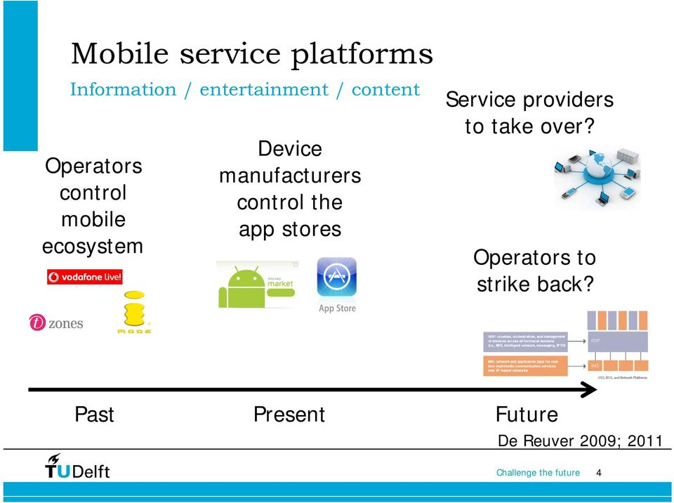 manufacturers control the app stores Service providers to