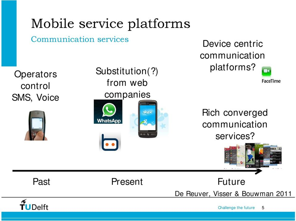 ) from web companies Device centric communication platforms?