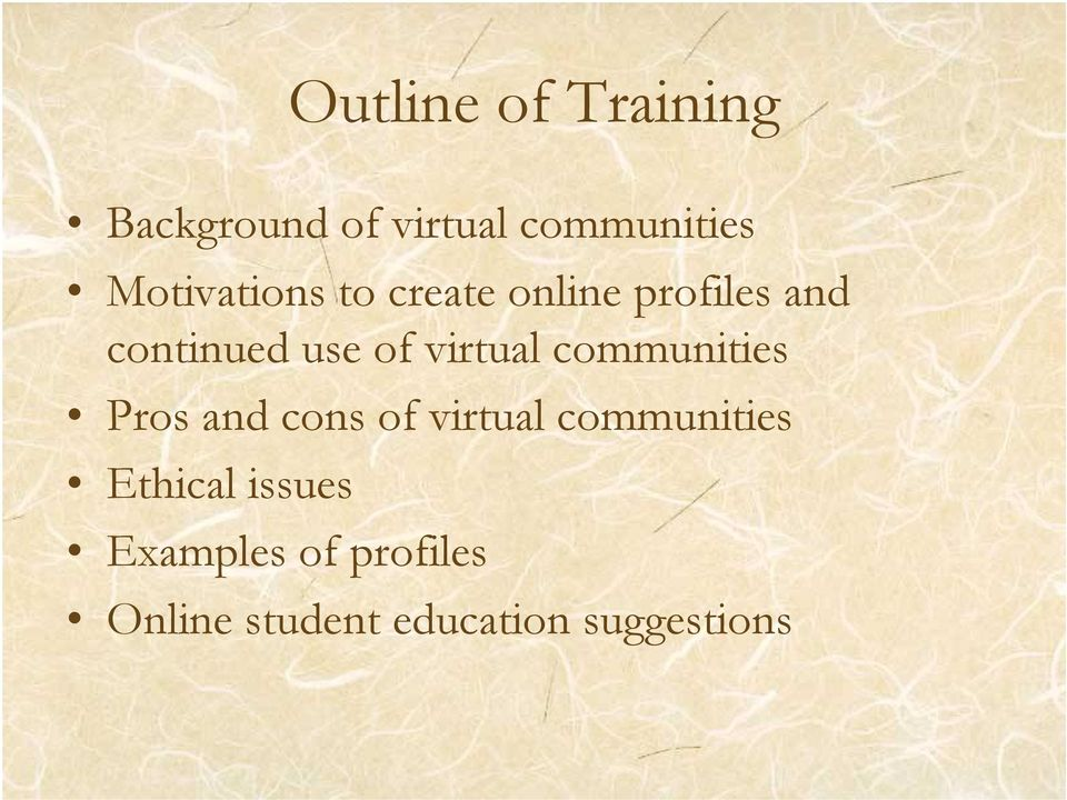 virtual communities Pros and cons of virtual communities