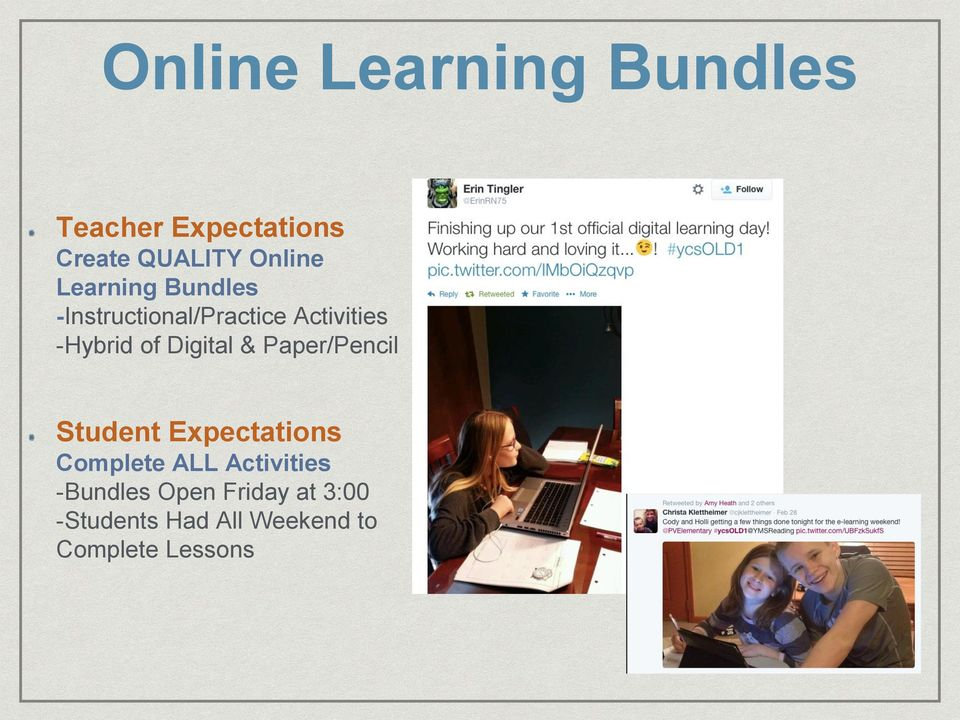 Digital & Paper/Pencil Student Expectations Complete ALL Activities