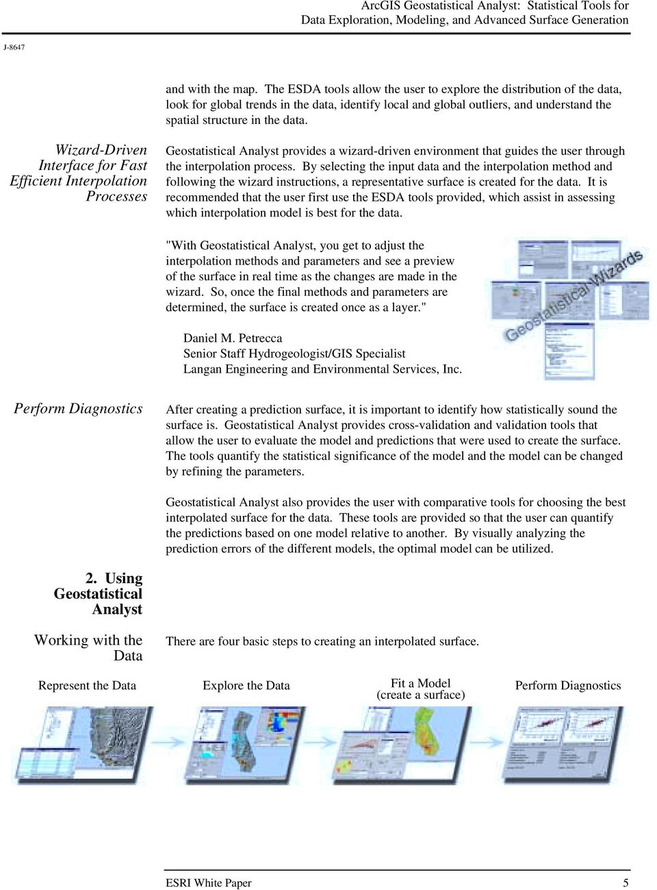 ArcGIS Geostatistical Analyst: Statistical Tools for Data