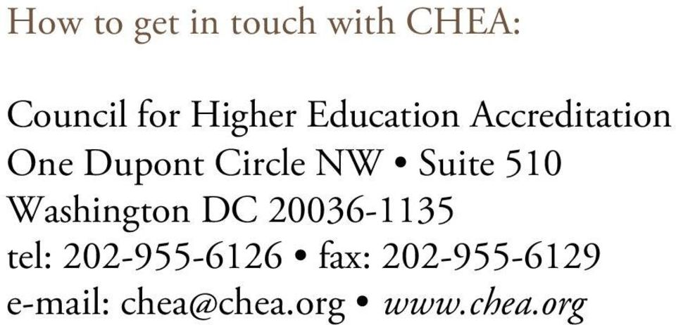 Suite 510 Washington DC 20036-1135 tel: