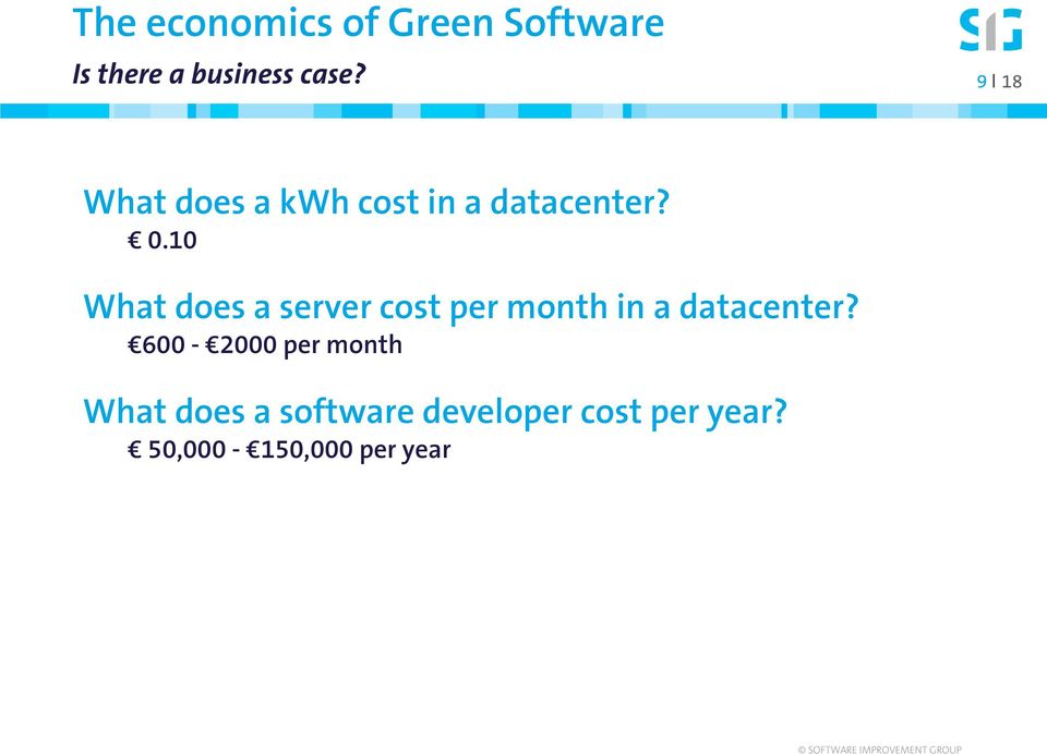 10 What does a server cost per month in a datacenter?