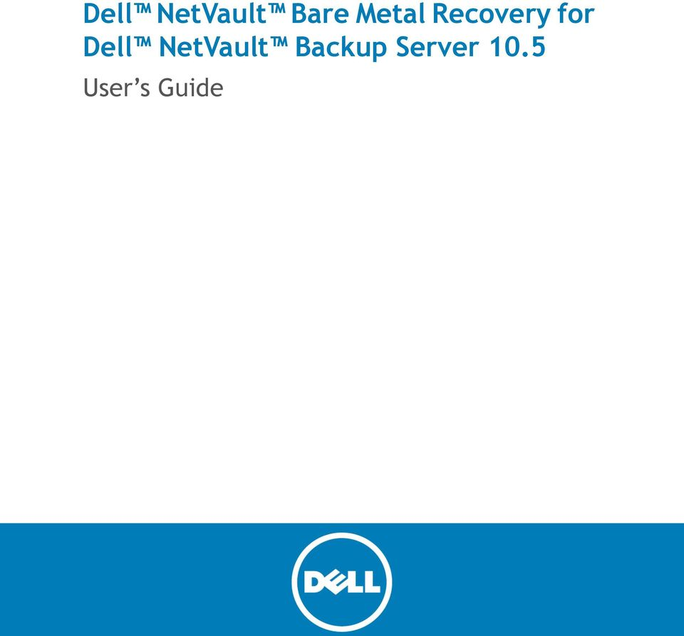 Dell NetVault Backup