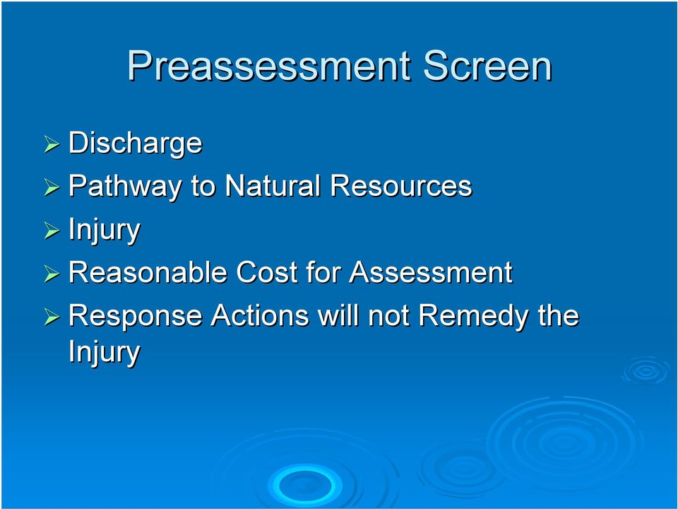 Reasonable Cost for Assessment