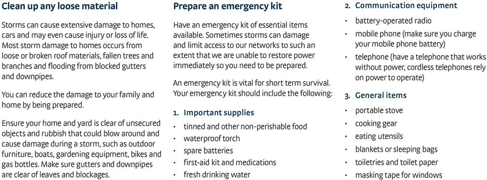 You can reduce the damage to your family and home by being prepared.