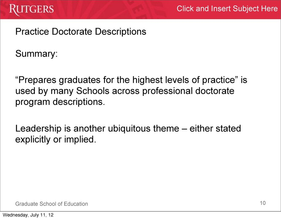 across professional doctorate program descriptions.