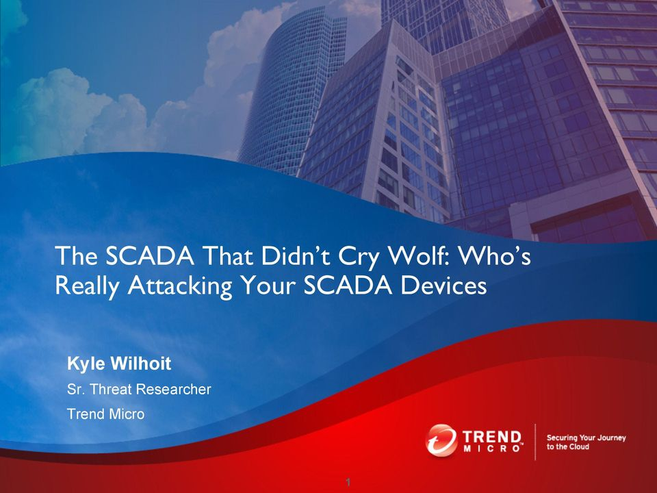 Your SCADA Devices Kyle