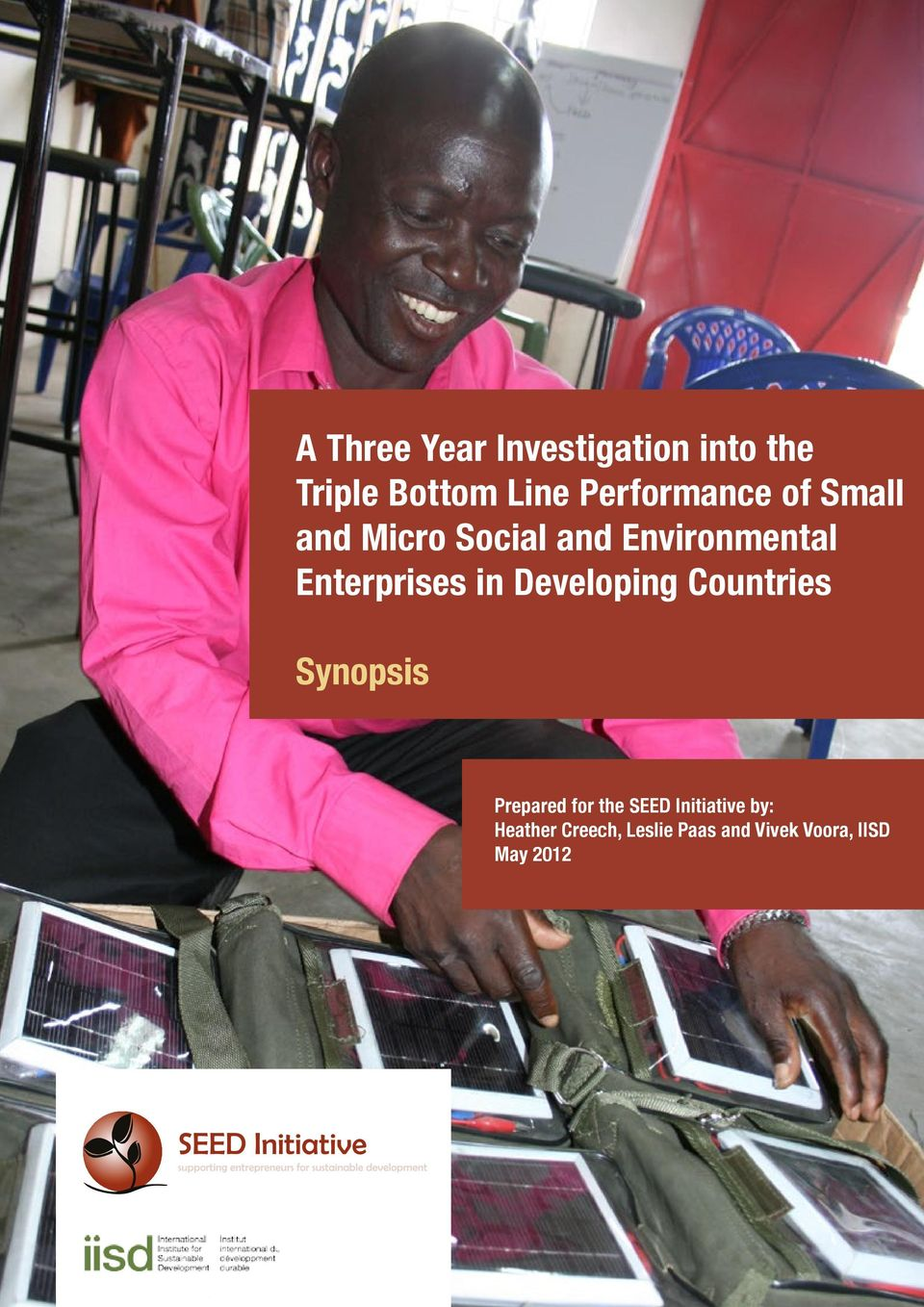 Enterprises in Developing Countries Synopsis Prepared for the