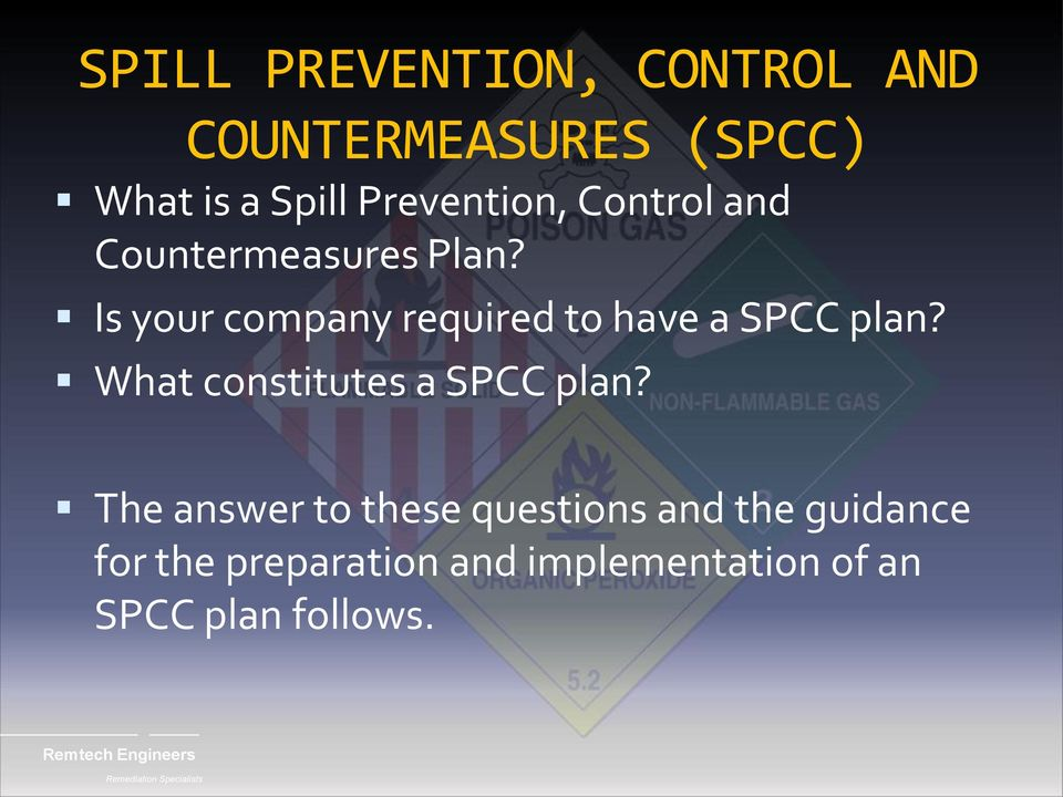 What constitutes a SPCC plan?