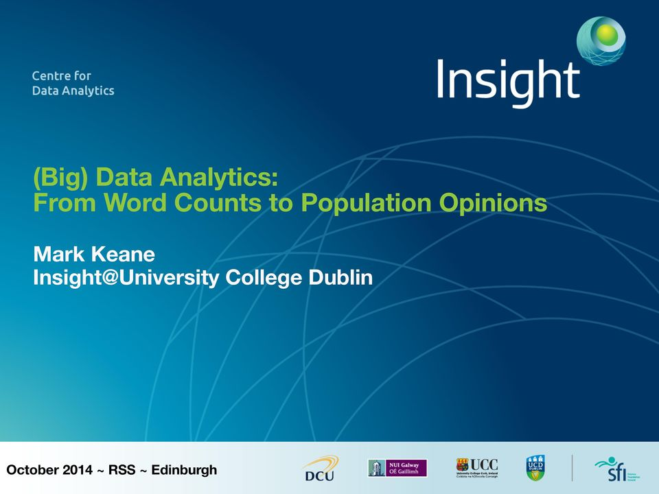 Keane Insight@University College