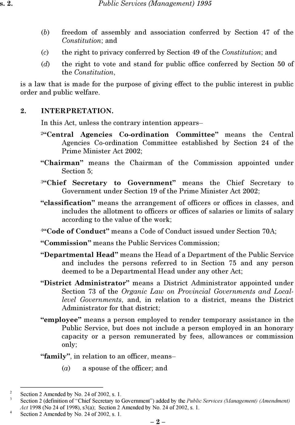 order and public welfare. 2. INTERPRETATION.