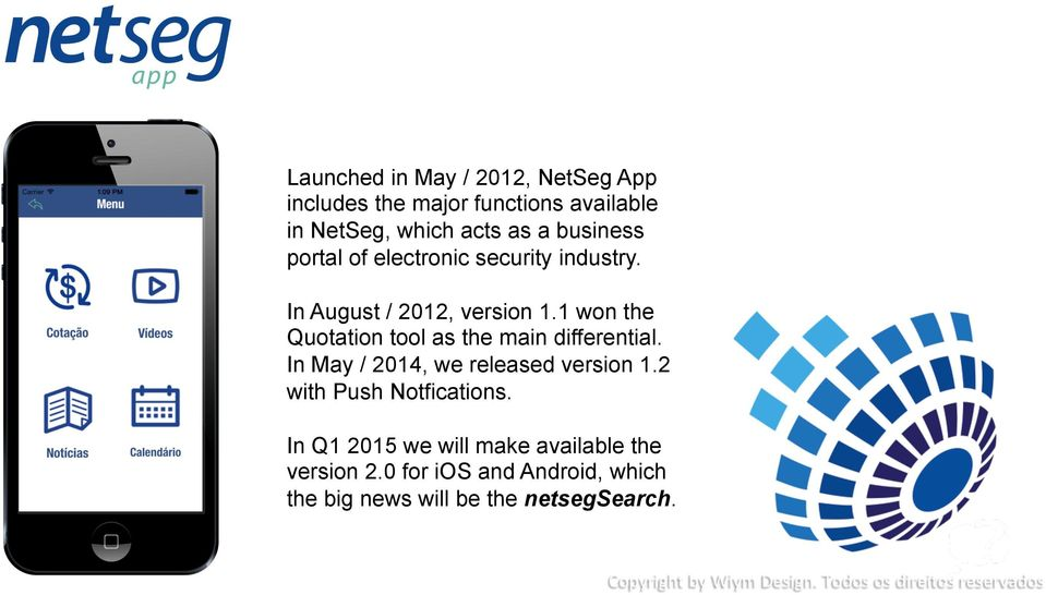 1 won the Quotation tool as the main differential. In May / 2014, we released version 1.