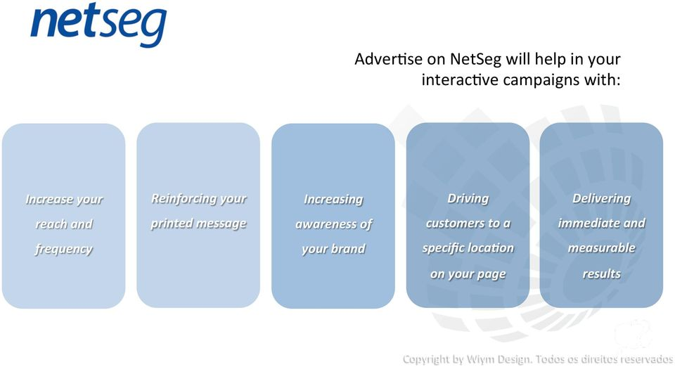 reach and printed message awareness of customers to a immediate