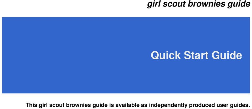 brownies guide is available as
