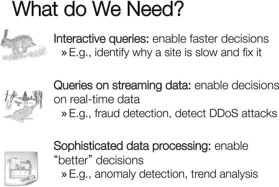 decisions on real-time data» E.g.