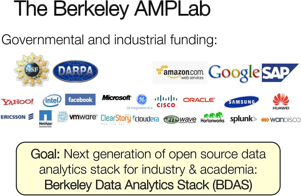 of open source data analytics stack for
