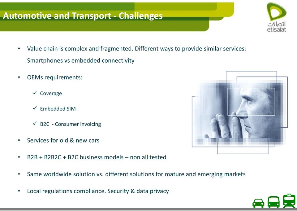 Embedded SIM B2C - Consumer invoicing Services for old & new cars B2B + B2B2C + B2C business models non all