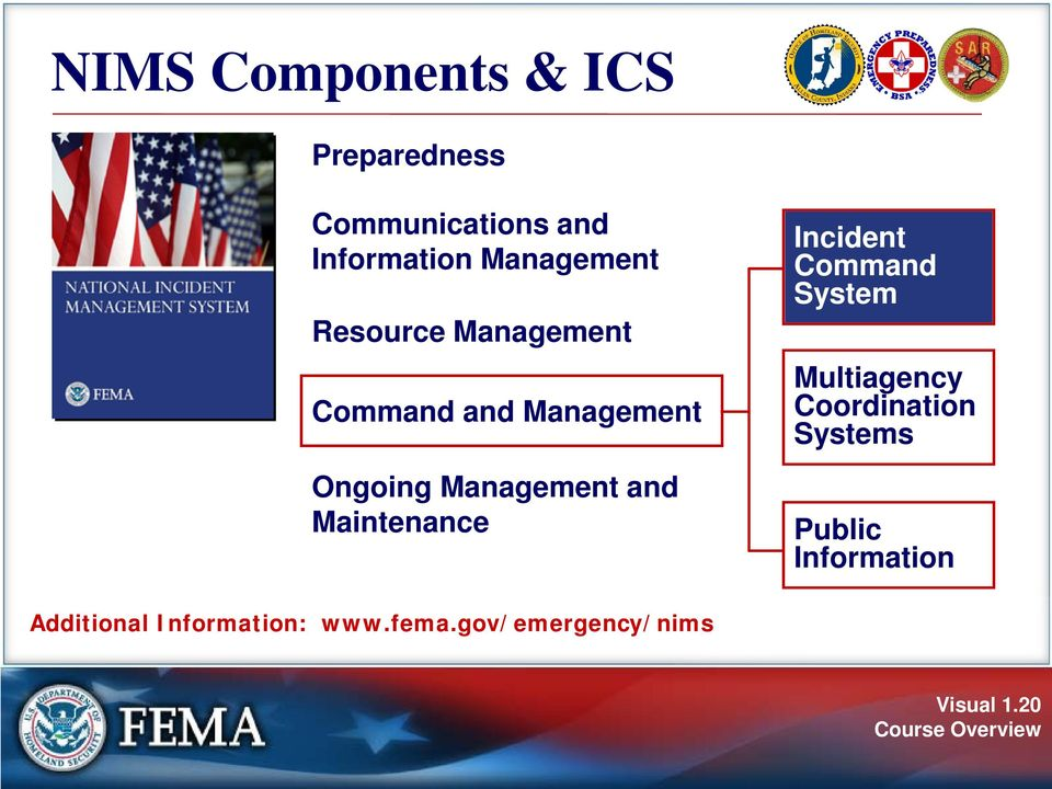 and Maintenance Incident Command System Multiagency Coordination Systems