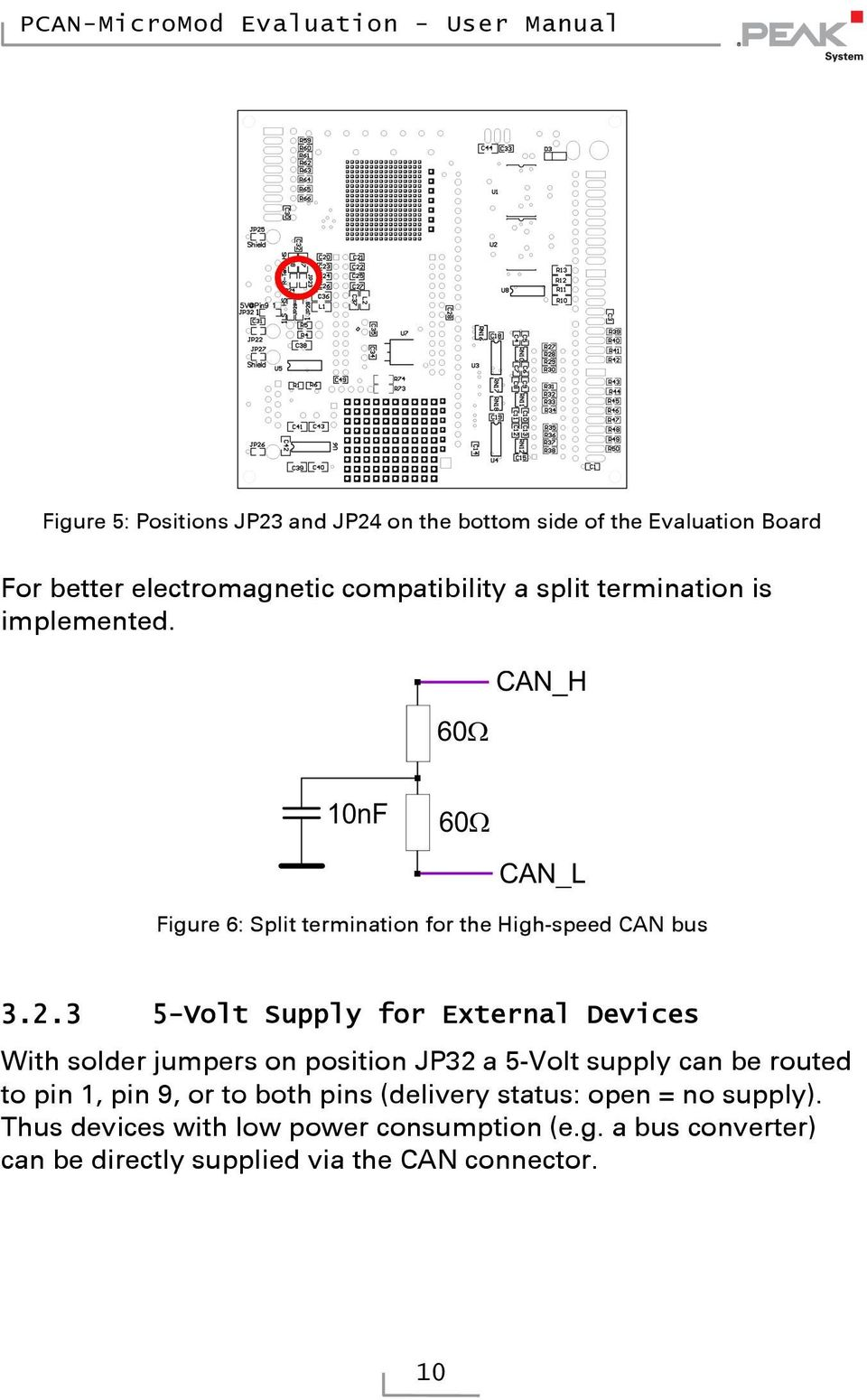 . -Volt Supply for External Devices With solder jumpers on position JP a -Volt supply can be routed to pin, pin, or to