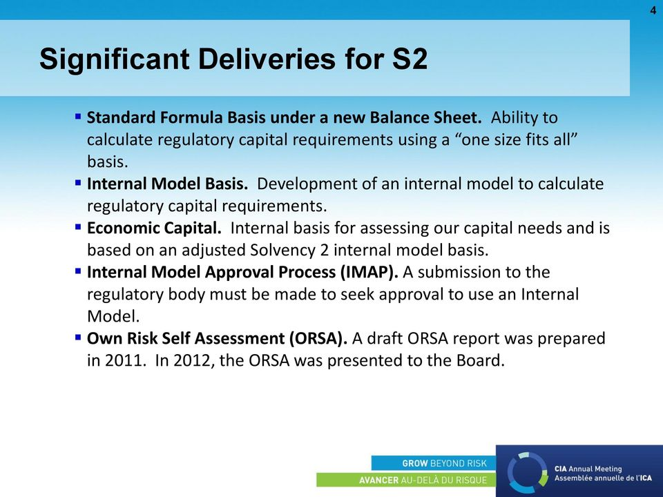 Development of an internal model to calculate regulatory capital requirements. Economic Capital.