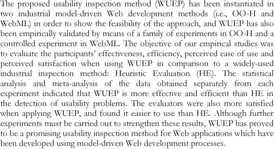 industrial inspection method: Heuristic Evaluation (HE).