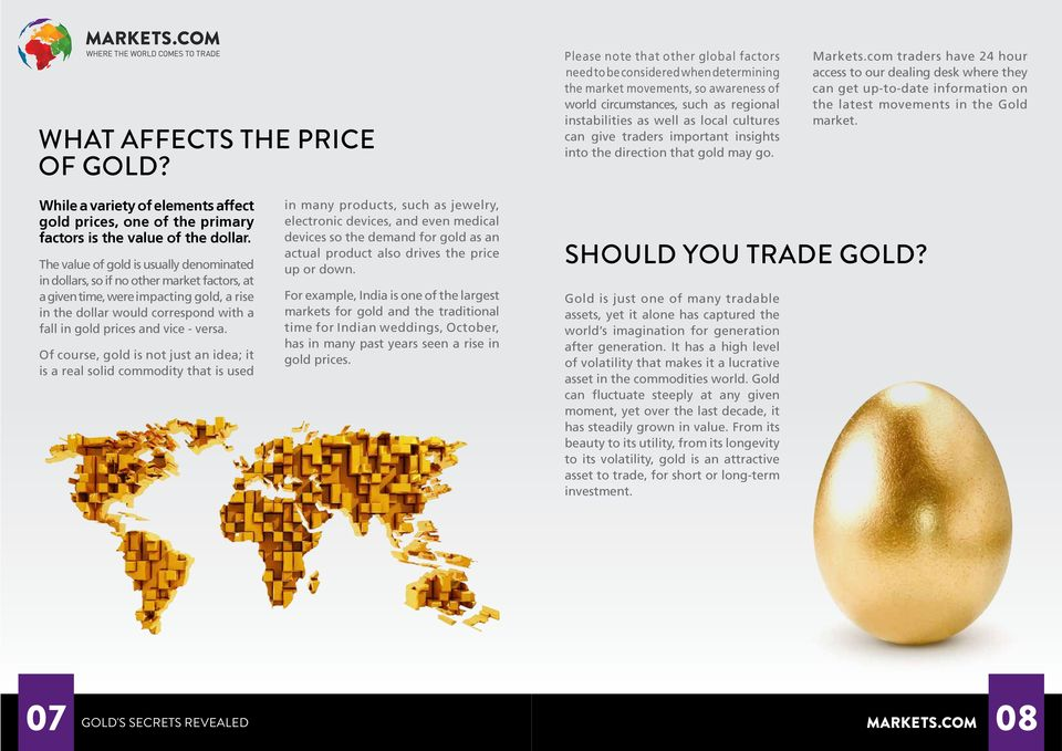 give traders important insights into the direction that gold may go. Markets.