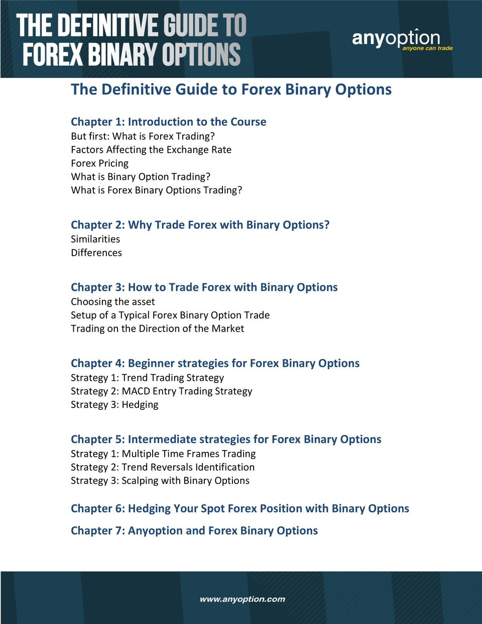 forex binary option course pdf