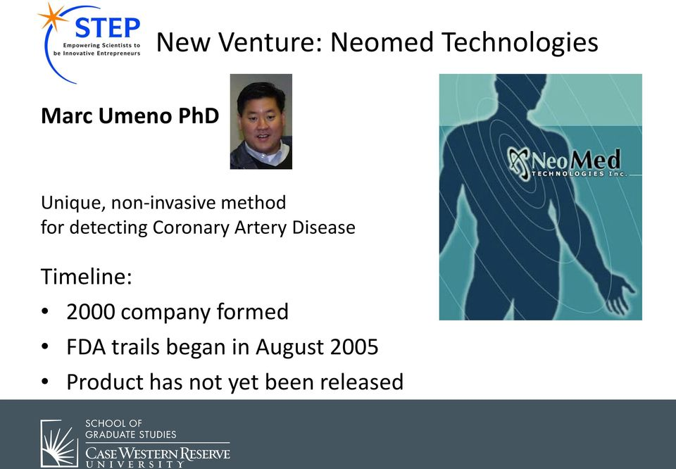 Artery Disease Timeline: 2000 company formed FDA