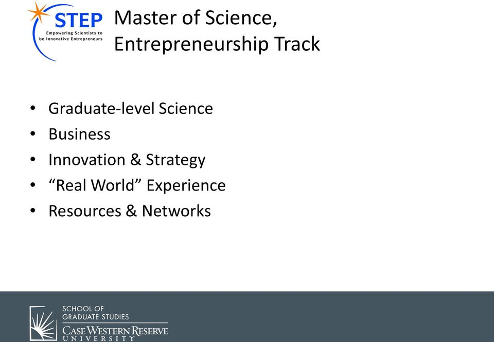 Graduate-level Science Business