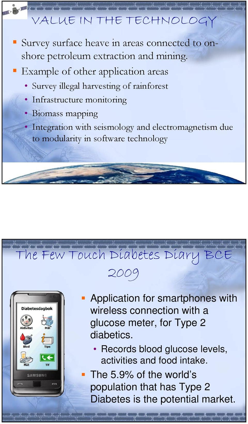 and electromagnetism due to modularity in software technology The Few Touch Diabetes Diary BCE 2009 Application for smartphones with wireless