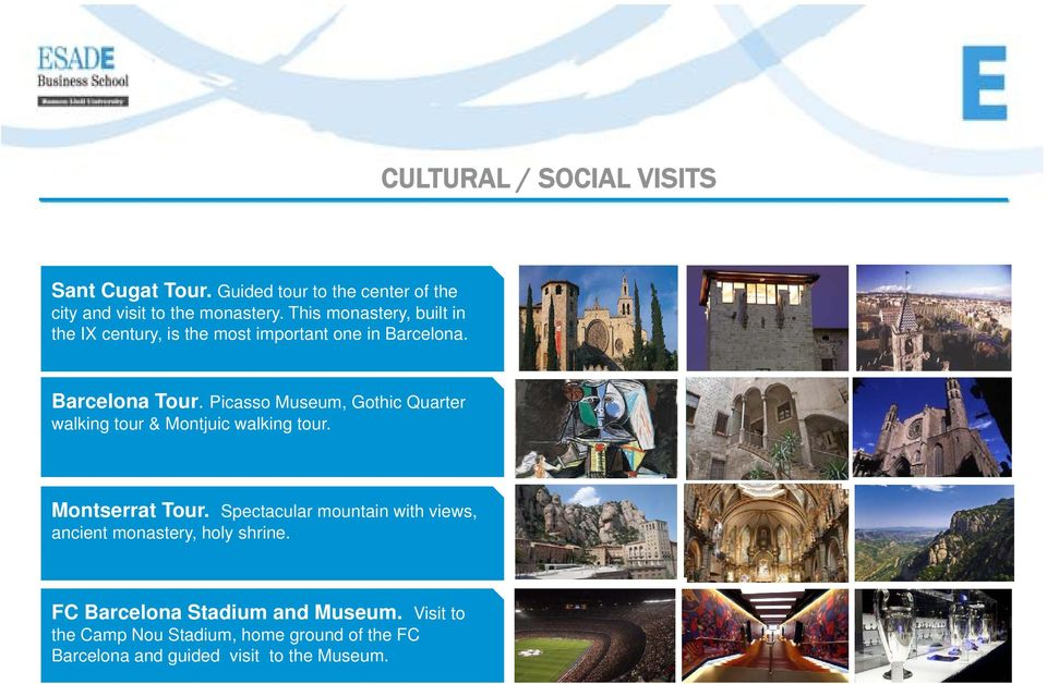 Picasso Museum, Gothic Quarter walking tour & Montjuic walking tour. Montserrat Tour.