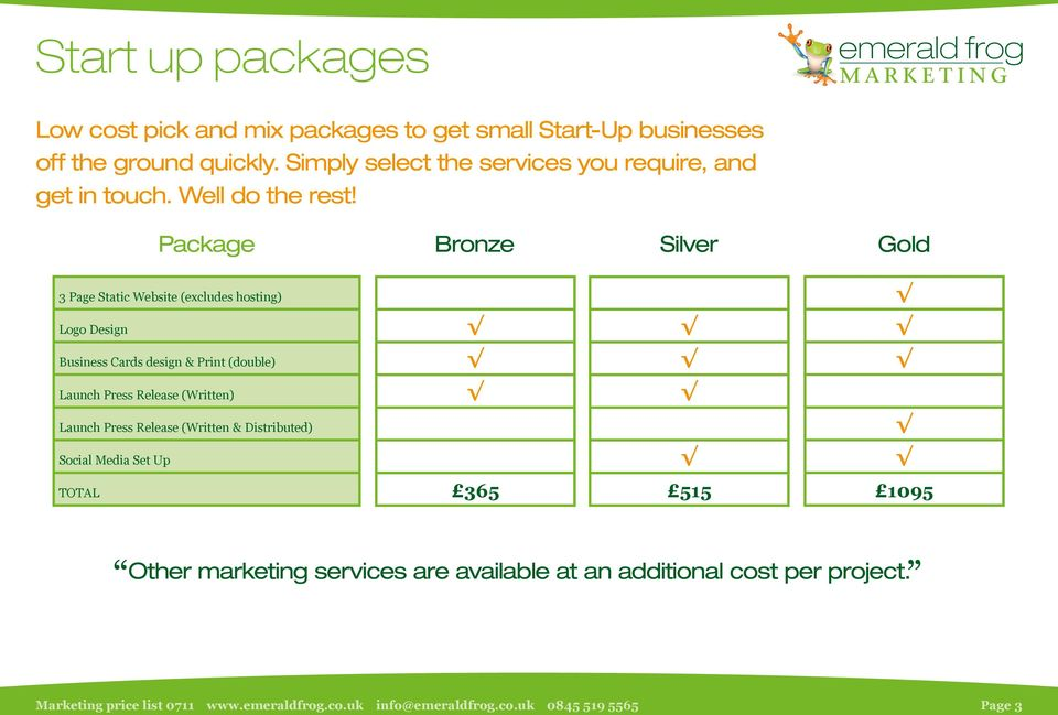 Package Bronze Silver Gold 3 Page Static Website (excludes hosting) Logo Design Business Cards design & Print (double)