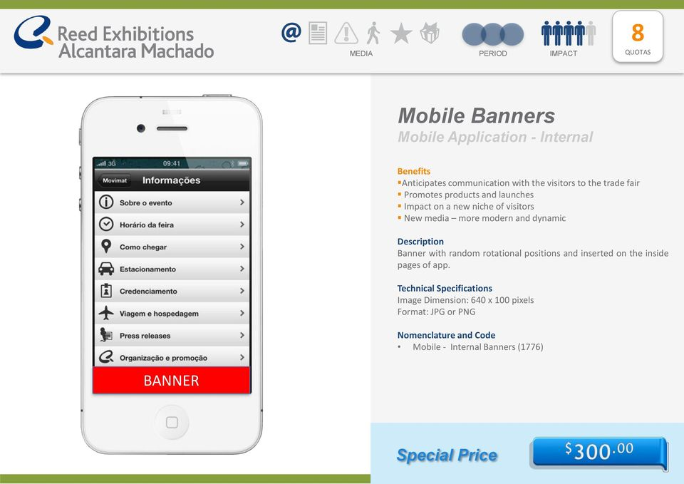 dynamic Banner with random rotational positions and inserted on the inside pages of app.