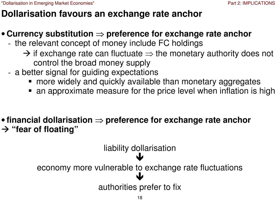 widely and quickly available than monetary aggregates an approximate measure for the price level when inflation is high financial dollarisation