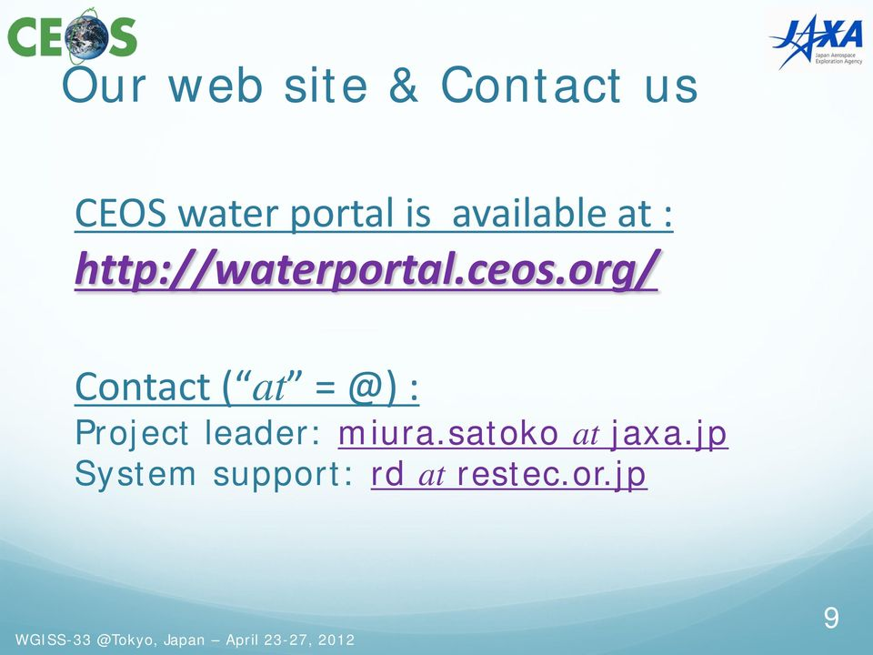 org/ Contact ( at = @) : Project leader: miura.
