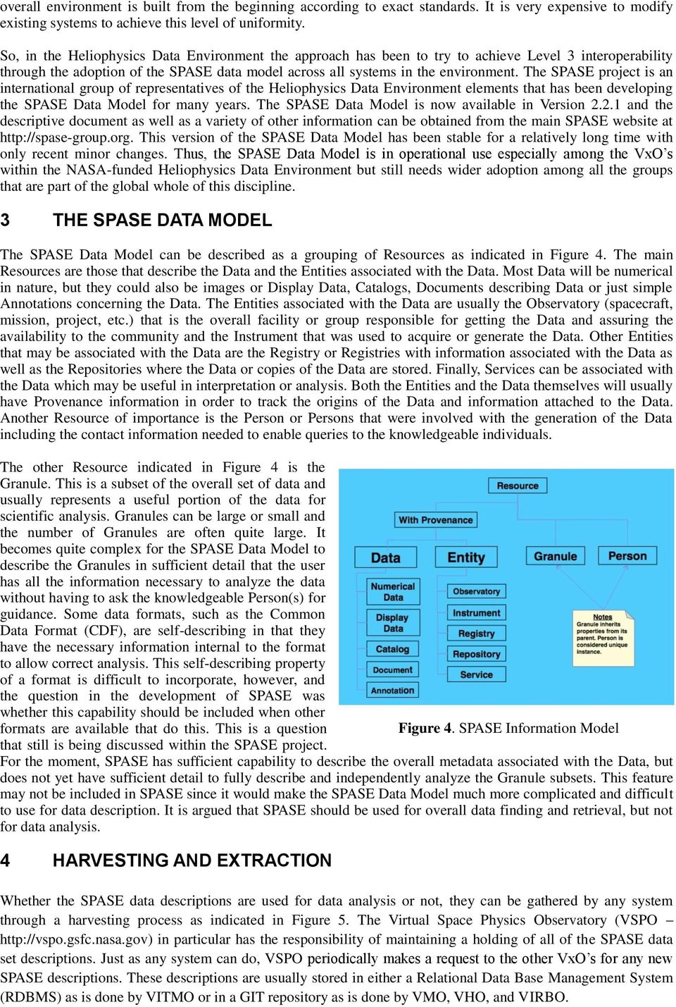 The SPASE project is an international group of representatives of the Heliophysics Data Environment elements that has been developing the SPASE Data Model for many years.