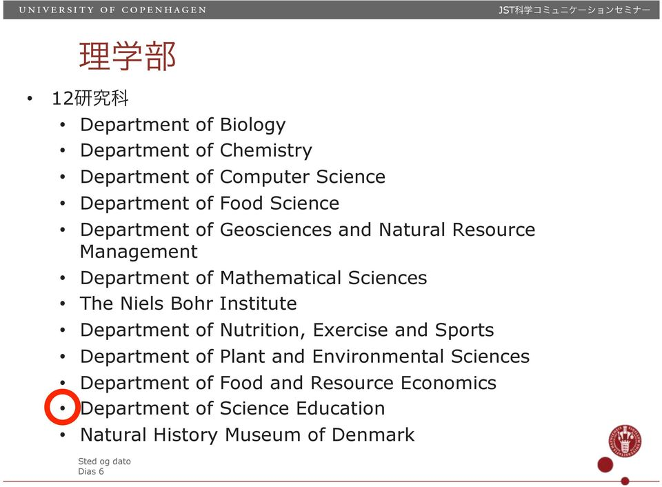 Niels Bohr Institute Department of Nutrition, Exercise and Sports Department of Plant and Environmental Sciences