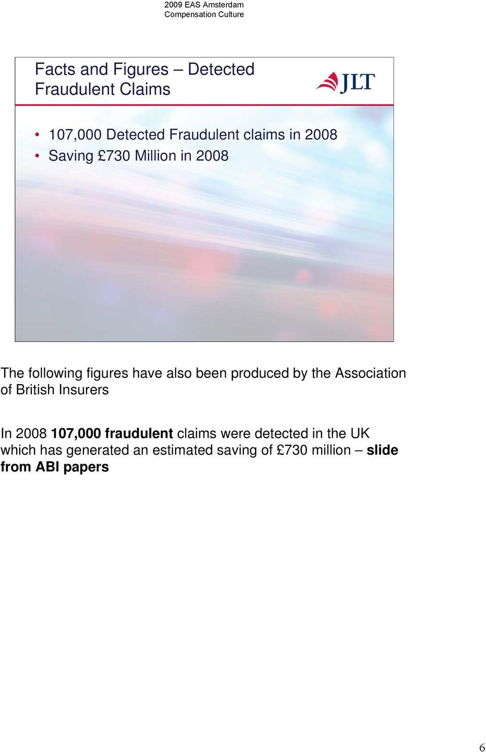the Association of British Insurers In 2008 107,000 fraudulent claims were detected