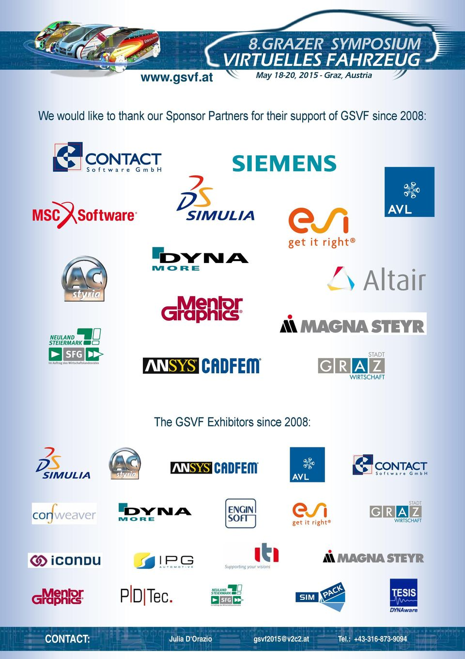 The GSVF Exhibitors since 2008: NEULAND STEIERMARK