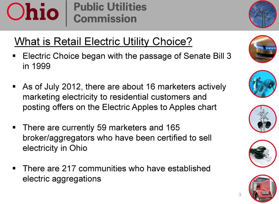 actively marketing electricity to residential customers and posting offers on the Electric Apples to Apples