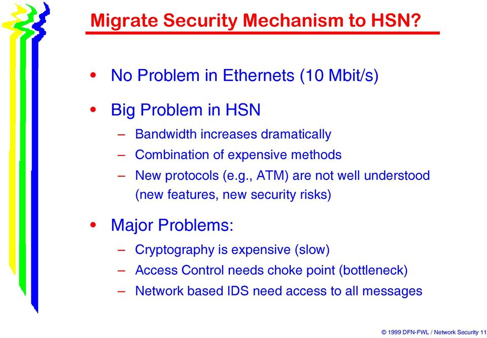 , ATM) are not well understood (new features, new security risks) Major Problems: Cryptography