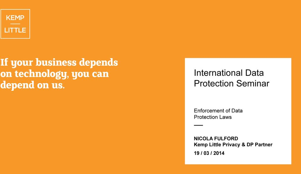 Protection Laws NICOLA FULFORD