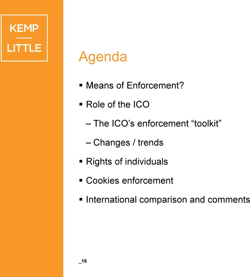 toolkit Changes / trends Rights of