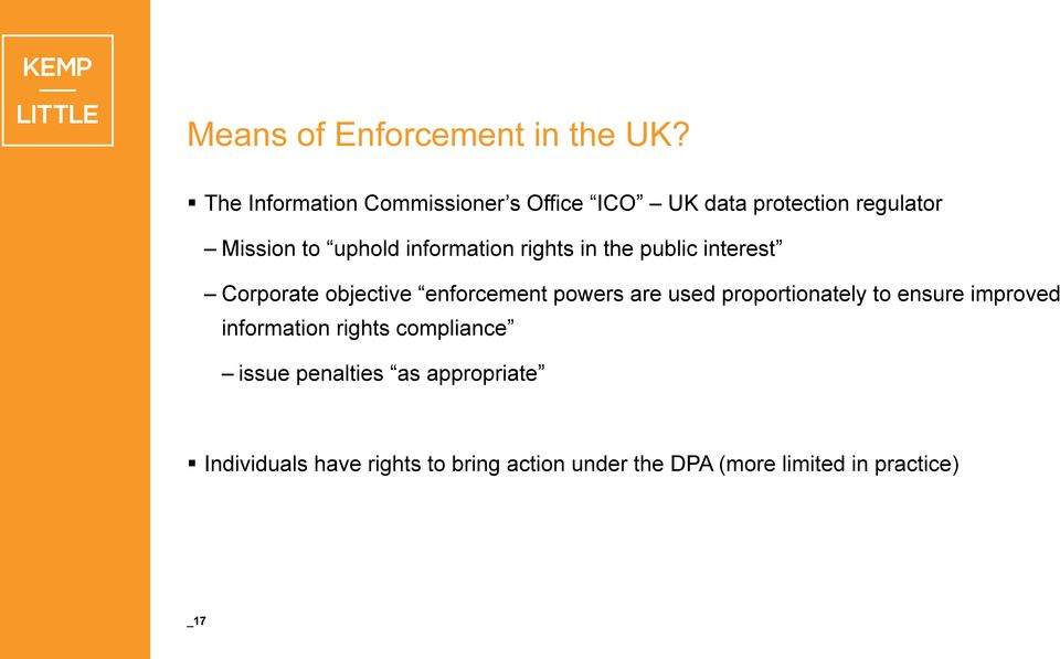 information rights in the public interest Corporate objective enforcement powers are used