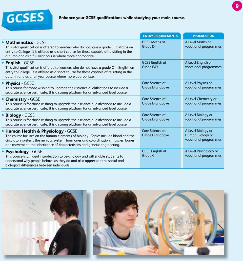 yenglish - GCSE This vital qualification is offered to learners who do not have a grade C in English on entry to College.