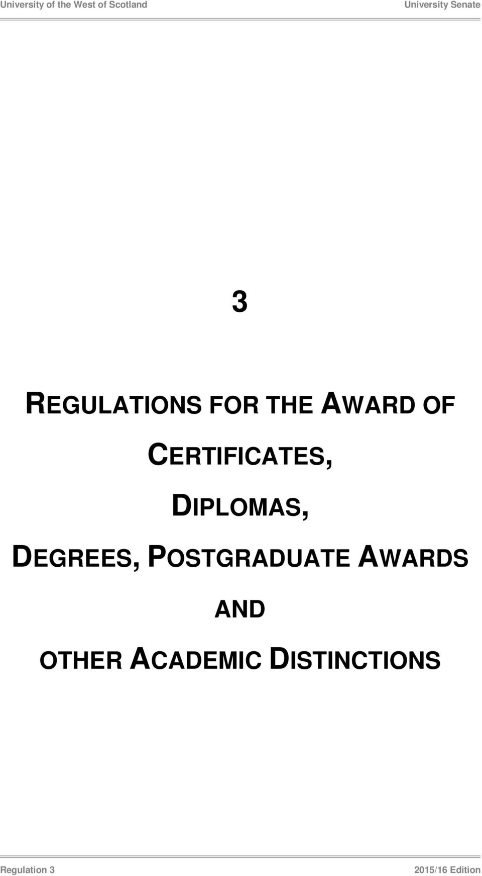 POSTGRADUATE AWARDS AND OTHER