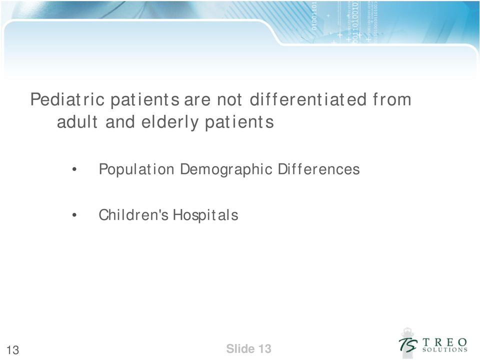 elderly patients Population