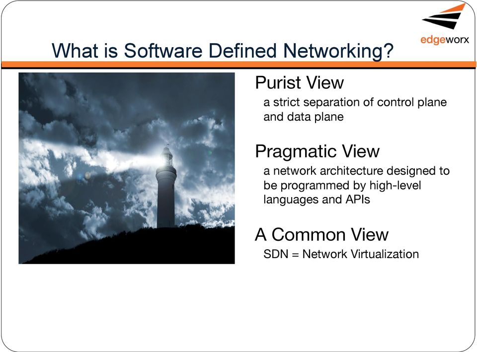 plane Pragmatic View a network architecture designed to be